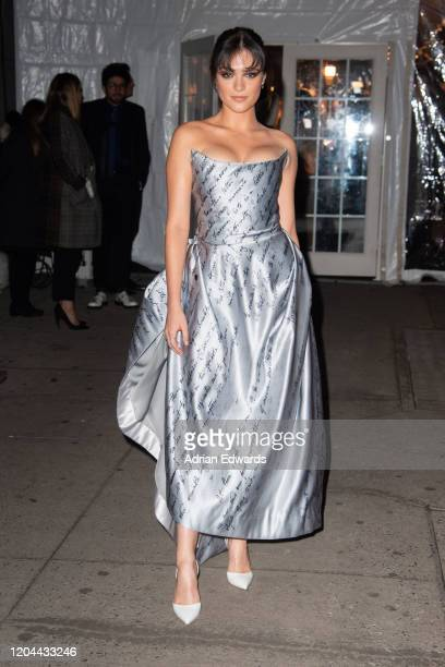 Luna Blaise outside the amFAR Gala held at Cipriani Wall St on February 5, 2020 in New York City.