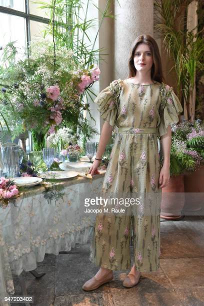 Luna Bonaccorsi attends Luisa Beccaria Home Collection for Moda Operandi on April 16 2018 in Milan Italy