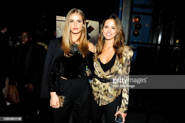 Luna Castilho and Karla Acevedo attend HBO With The Cinema Society Host A Special Screening Of 'My Brilliant Friend' at The Oyster Bar At The Roxy...