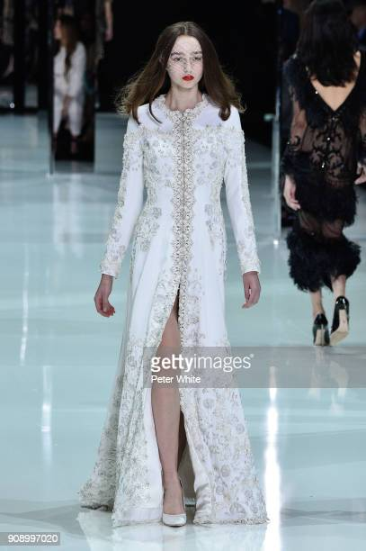 Luna Cornelissen walks the runway during the Ralph Russo Spring Summer 2018 show as part of Paris Fashion Week on January 22 2018 in Paris France