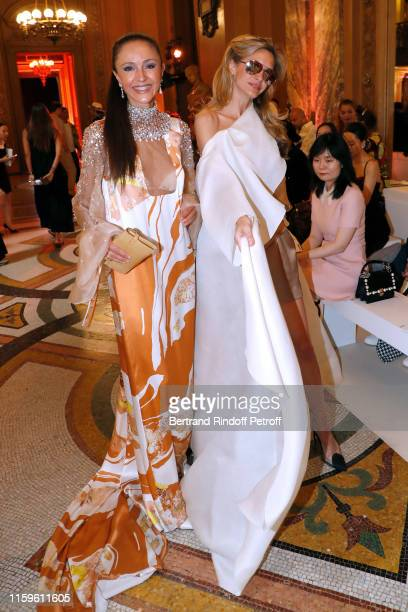 Luna de Casanova and Ulla Parker attend the Stephane Rolland Haute Couture Fall/Winter 2019 2020 show as part of Paris Fashion Week on July 02 2019...