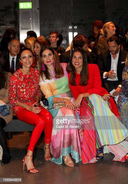 Luna De Casanova Maria Kastani and Federica Fanari attend Mary Katrantzou SS19 show production by Family Limited on September 15 2018 in London...