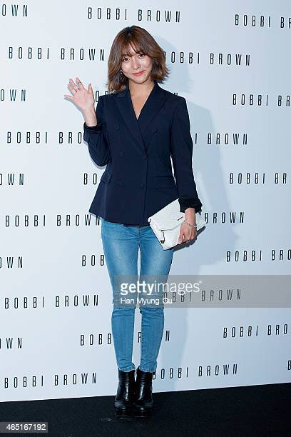 Luna of girl group f attends the Bobbi Brown Launch Party at Shilla Hotel on March 3 2015 in Seoul South Korea