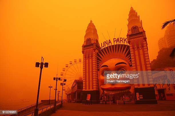 Luna Park is seen on September 23, 2009 in Sydney, Australia. Severe wind storms in the west of New South Wales have blown a dust cloud that has...