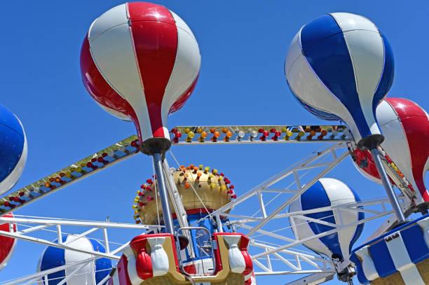 Luna park spinning swing carousel