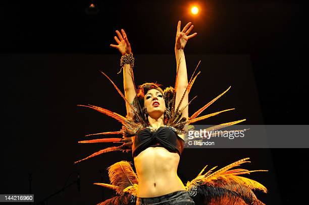 Luna Rose performs on stage at Shepherds Bush Empire on May 8 2012 in London United Kingdom