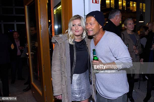 Luna Schweiger and her father Til Schweiger attend the Grand Opening of the Barefood Deli restaurant on November 2 2016 in Hamburg Germany