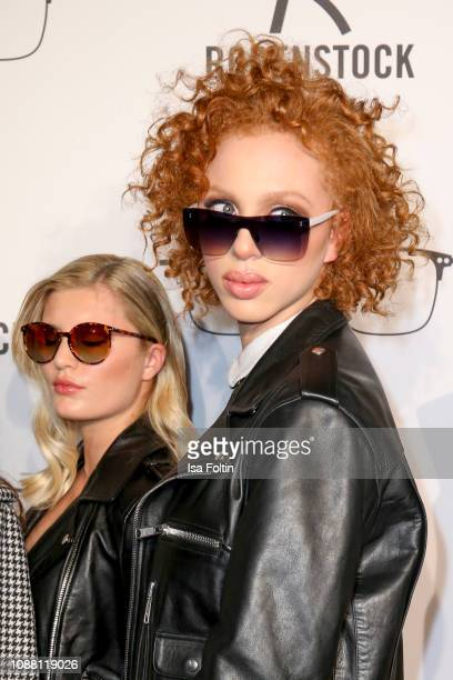 Luna Schweiger and Model Anna Ermakova during the Rodenstock Eyewear Show 'A New Vision of Style' at Isarforum on January 24 2019 in Munich Germany