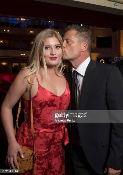 Luna Schweiger and Til Schweiger attend the GQ Men of the year Award 2017 after show party at Komische Oper on November 9 2017 in Berlin Germany