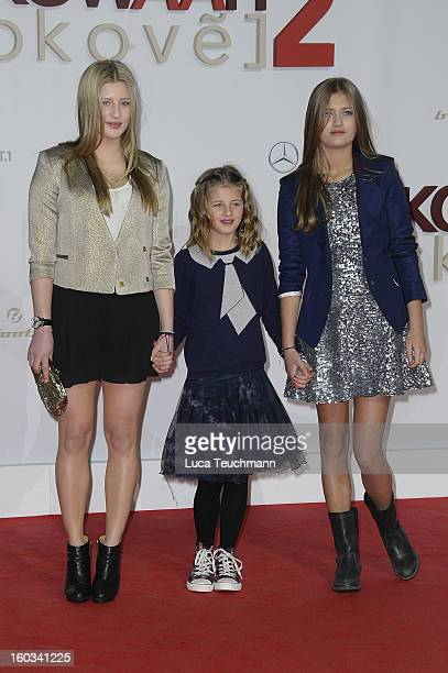 Luna Schweiger Emma Schweiger and Lilli Schweiger attend 'Kokowaeaeh 2' Germany Premiere at Cinestar Potsdamer Platz on January 29 2013 in Berlin...