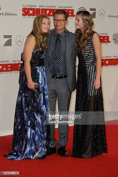 Luna Schweiger Til Schweiger and Lilli Schweiger attend the premiere of 'Schutzengel' at Sony Center on September 18 2012 in Berlin Germany