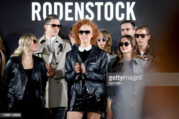 Luna Schweiger Tyger Lobinger Anna Ermakova Mia Wehrmann Lucia Strunz and Nathan Wehrmann during the Rodenstock Eyewear Show 'A New Vision of Style'...