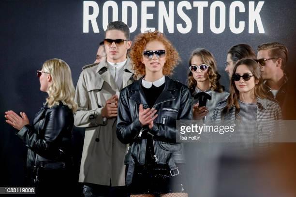 Luna Schweiger Tyger Lobinger Anna Ermakova Mia Wehrmann Lucia Strunz and Nathan Wehrmann during the Rodenstock Eyewear Show 'A New Vision of Style'...