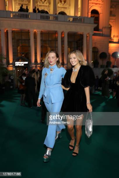 Luna Wedler and Zoe Pastelle arrive for the Award Night Ceremony of the 16th Zurich Film Festival at Opera House on October 03, 2020 in Zurich,...