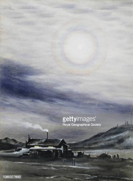 Lunar Corona Cape Evans McMurdo Sound British Antarctic Expedition 19101913 Antarctica
