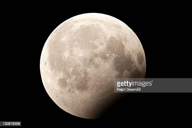 Lunar eclipse, partial, 16.08.2008, taken from Bremen, Germany, Europe