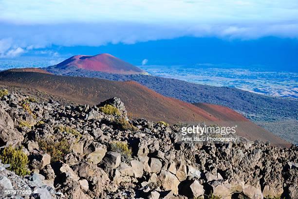 Lunar landscape near atop Mauna Kea, Hawaii
