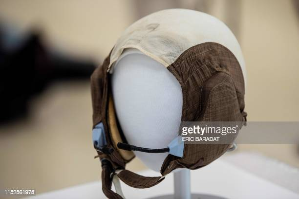 Lunar Mission Apollo 11 Lunar Module Pilot Buzz Aldrin's Snoopy cap is seen inside the Conservation Laboratory of the Air and Space Museum in...