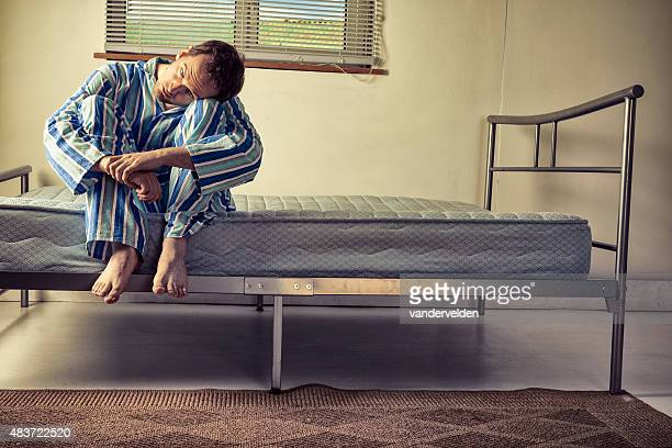 lunatic in striped pyjamas - psychiatric hospital stock pictures, royalty-free photos & images