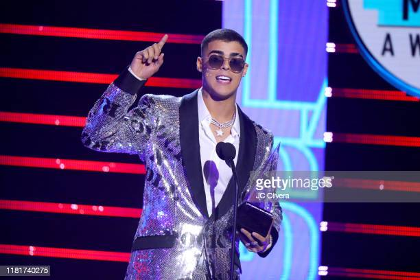 Lunay accepts New Artist of the Year onstage during the 2019 Latin American Music Awards at Dolby Theatre on October 17 2019 in Hollywood California