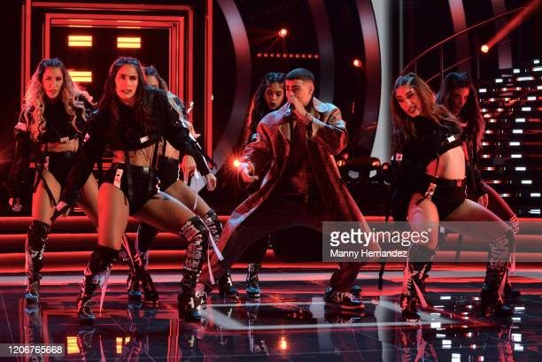 Lunay at Mira Quien Baila All Stars 6th week at Univision Studios on February 16 2020 in Miami Florida