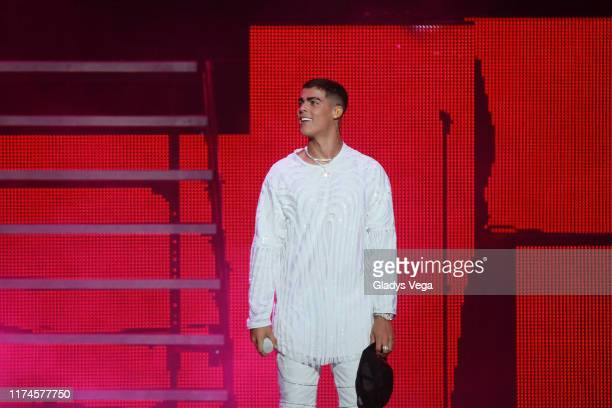Lunay performs onstage during the Reggaeton White Concert at Coliseo Jose M Agrelot on September 13 2019 in San Juan Puerto Rico