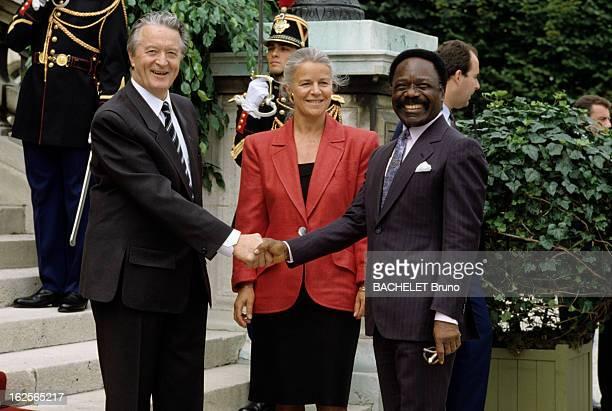 Lunch At The Hotel De Lassay For The Bicentennial Of The French Revolution. Paris - 14 juillet 1989 - A L'HOTEL DE LASSAY, lors d'un déjeuner offert...