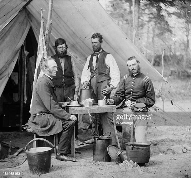 Lunch at the Photographic tent of General Winfield Scott