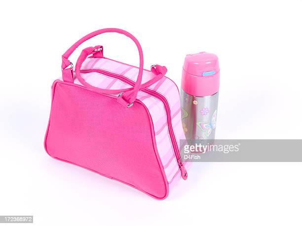 saco de almoço - bolsa rosa - fotografias e filmes do acervo