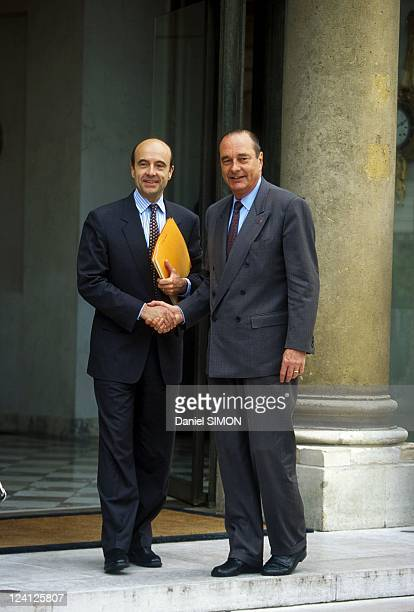 Lunch between Jacques Chirac and Alain Juppe at Elysee Palace in Paris France on May 18 1995