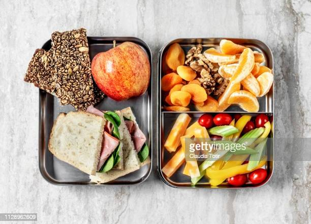 lunch box - nut food stock pictures, royalty-free photos & images