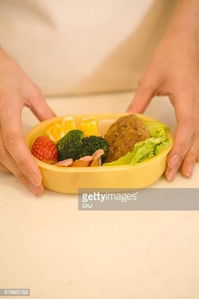 lunch box - cavolo cappuccio verde foto e immagini stock