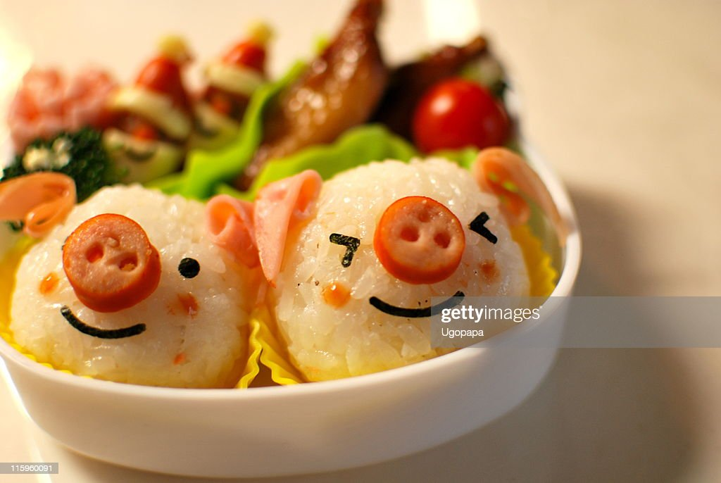 Lunch box piglet : Stock Photo
