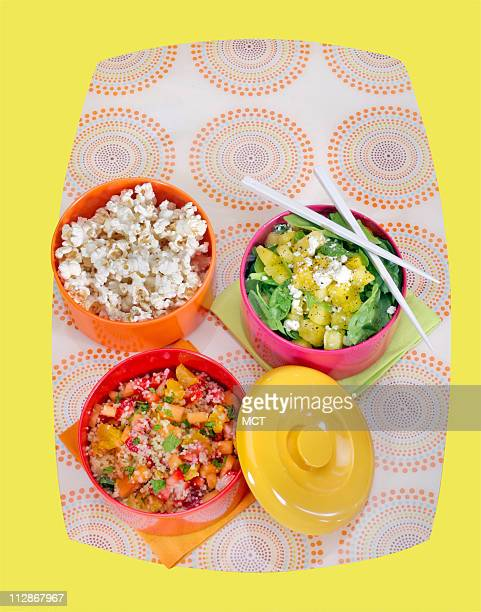Lunch boxes are getting an international flair as such as these tiffins stackable round containers that lock together