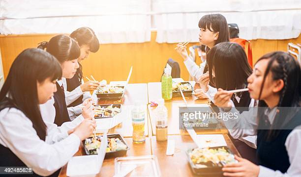 Lunch Break at Japanese High School