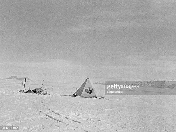 Lunch camp in the Wild Mountains taken during the last tragic voyage to Antarctica by Captain Robert Falcon Scott and his crew among them Lieutenant...