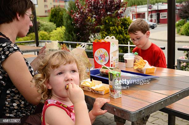 lunch in mcdonald's - mcdonald's stock pictures, royalty-free photos & images
