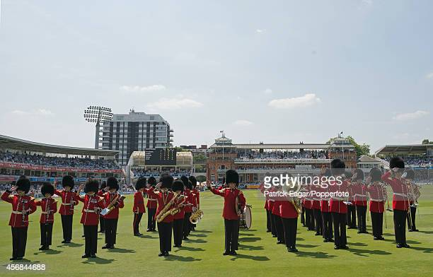 Lunch interval, Band, Lord's Cricket Ground, England v Australia 2013.