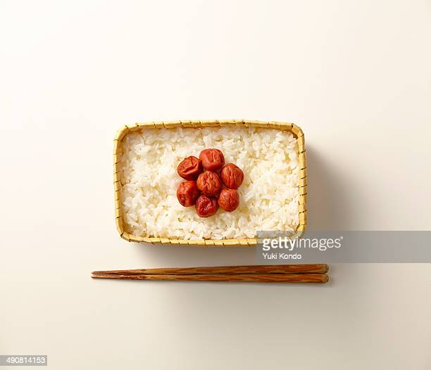 lunch of japanese flag pattern. - japanese flag stock photos and pictures