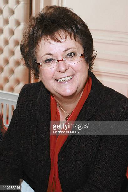 Lunch of the 'Femme du possible' at the Secretariat of State for Solidarity in Paris France on March 05th 2008 Christine Albanel mobilization towards...