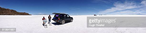 Lunch on the Salt flats Uyuni Bolivia