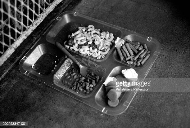 Lunch plate is placed outside a cell on April 23, 1997 at Ellis Death Row Unit in Huntsville, Texas USA. Texas has about 450 prisoners on death row....