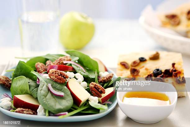lunch - salad and bread - side salad stock pictures, royalty-free photos & images