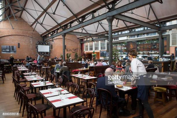 Lunch time at The Market Bar restaurant on 04th April 2017 in Dublin, Republic of Ireland. Dublin is the largest city and capital of the Republic of...