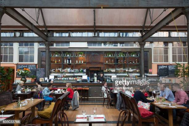 Lunch time at The Market Bar restaurant on 04th April 2017 in Dublin Republic of Ireland Dublin is the largest city and capital of the Republic of...