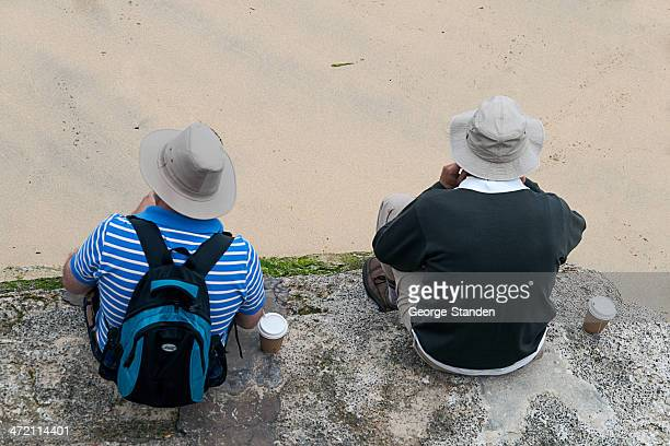 lunch time, st ives, cornwall - st ives stock pictures, royalty-free photos & images