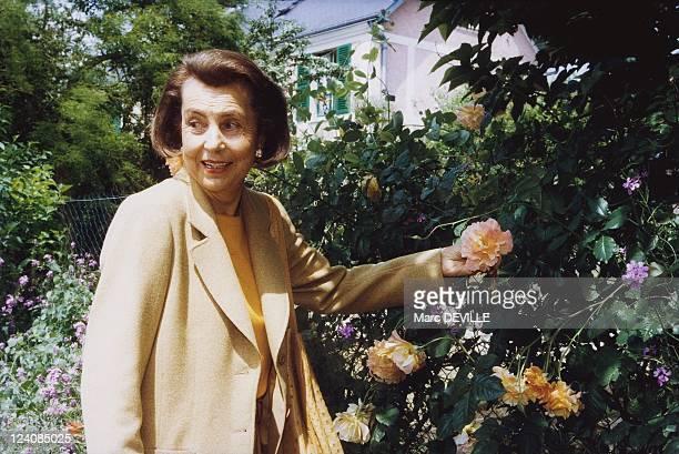 Lunch Van Der Kemp at foundation Claude Monet In May 1999 Liliane Bettencourt