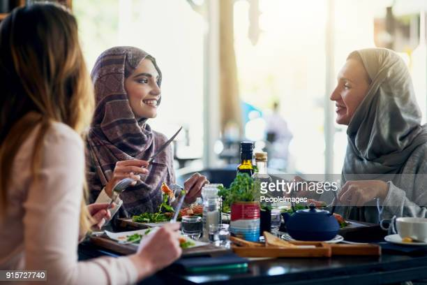 lunch with the girls fills the heart and the stomach - restaurant stock pictures, royalty-free photos & images