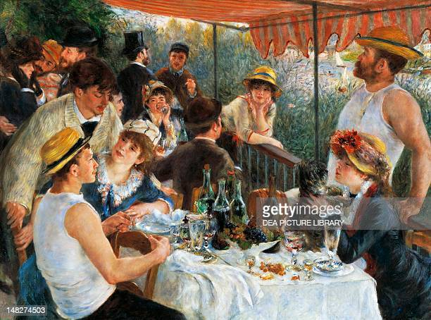 Luncheon of the boating party by PierreAuguste Renoir oil on canvas 129x172 cm Washington Phillips Collection