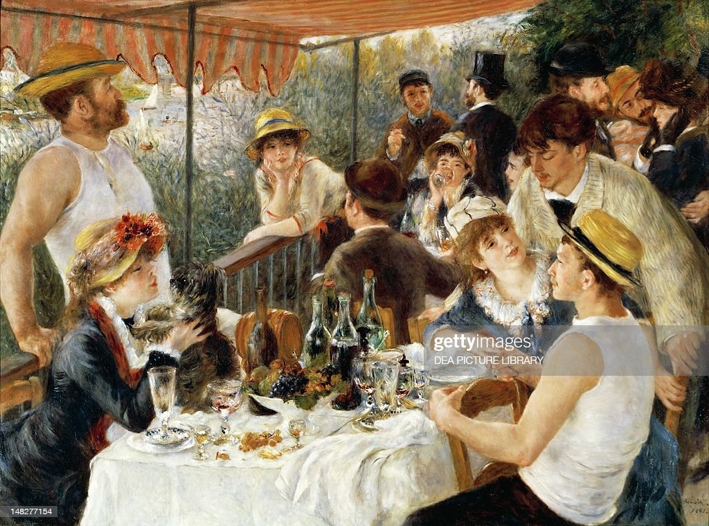 Luncheon of the boating party, 1881, by Pierre-Auguste Renoir (1841-1919), oil on canvas, 129x172 cm. (Photo by DeAgostini/Getty Images) : News Photo